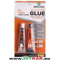 ЛЕПИЛО акрилно - ZOLLEX Acrylic AB Glue Semi-Clear  (CL-306A) - 10+10ml