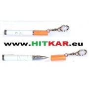 Ключодържател - прожектор - химикал във формата на цигара - 1 бял светодиод и 1 лазерен диод
